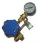 Клапан запорный К-1412-16 с манометром